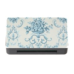 Blue Vintage Floral  Memory Card Reader With Cf by 8fugoso