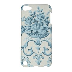 Blue Vintage Floral  Apple Ipod Touch 5 Hardshell Case by 8fugoso