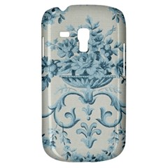 Blue Vintage Floral  Galaxy S3 Mini by 8fugoso