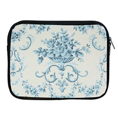 Blue Vintage Floral  Apple Ipad 2/3/4 Zipper Cases by 8fugoso