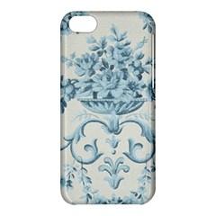 Blue Vintage Floral  Apple Iphone 5c Hardshell Case by 8fugoso