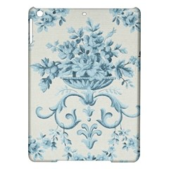 Blue Vintage Floral  Ipad Air Hardshell Cases by 8fugoso