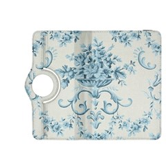 Blue Vintage Floral  Kindle Fire Hdx 8 9  Flip 360 Case by 8fugoso