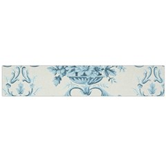 Blue Vintage Floral  Large Velour Scarf  by 8fugoso
