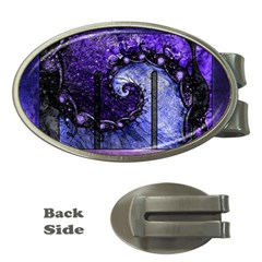 Beautiful Violet Spiral For Nocturne Of Scorpio Money Clips (oval)  by jayaprime