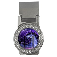 Beautiful Violet Spiral For Nocturne Of Scorpio Money Clips (cz)  by jayaprime