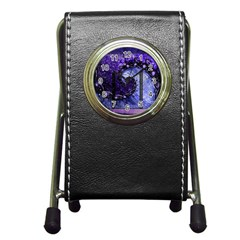 Beautiful Violet Spiral For Nocturne Of Scorpio Pen Holder Desk Clocks by beautifulfractals