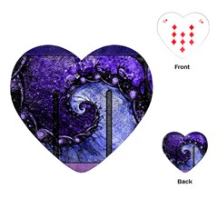 Beautiful Violet Spiral For Nocturne Of Scorpio Playing Cards (heart)  by beautifulfractals
