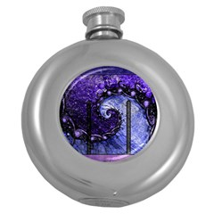 Beautiful Violet Spiral For Nocturne Of Scorpio Round Hip Flask (5 Oz) by jayaprime