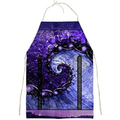 Beautiful Violet Spiral For Nocturne Of Scorpio Full Print Aprons by beautifulfractals