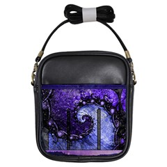 Beautiful Violet Spiral For Nocturne Of Scorpio Girls Sling Bags by jayaprime
