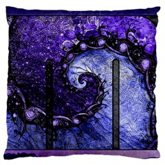 Beautiful Violet Spiral For Nocturne Of Scorpio Large Cushion Case (one Side) by jayaprime