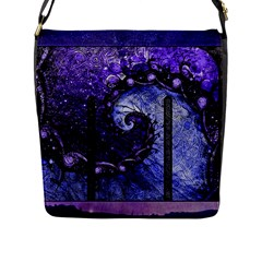 Beautiful Violet Spiral For Nocturne Of Scorpio Flap Messenger Bag (l)  by jayaprime