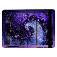 Beautiful Violet Spiral For Nocturne Of Scorpio Samsung Galaxy Tab Pro 12 2  Flip Case by jayaprime