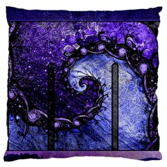 Beautiful Violet Spiral For Nocturne Of Scorpio Large Flano Cushion Case (two Sides) by jayaprime
