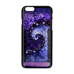 Beautiful Violet Spiral For Nocturne Of Scorpio Apple Iphone 6/6s Black Enamel Case by jayaprime