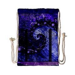 Beautiful Violet Spiral For Nocturne Of Scorpio Drawstring Bag (small) by jayaprime
