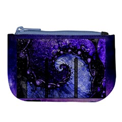 Beautiful Violet Spiral For Nocturne Of Scorpio Large Coin Purse by beautifulfractals