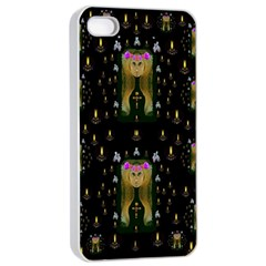 Queen In The Darkest Of Nights Apple Iphone 4/4s Seamless Case (white) by pepitasart