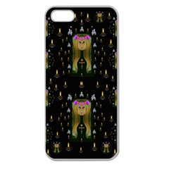 Queen In The Darkest Of Nights Apple Seamless Iphone 5 Case (clear)