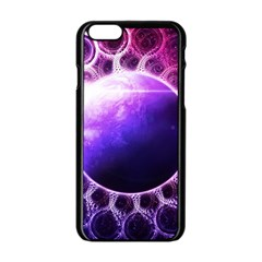 Beautiful Violet Nasa Deep Dream Fractal Mandala Apple Iphone 6/6s Black Enamel Case by beautifulfractals