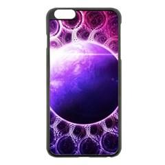 Beautiful Violet Nasa Deep Dream Fractal Mandala Apple Iphone 6 Plus/6s Plus Black Enamel Case by jayaprime