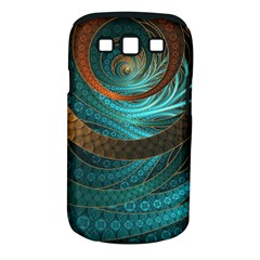 Beautiful Leather & Blue Turquoise Fractal Jewelry Samsung Galaxy S Iii Classic Hardshell Case (pc+silicone) by jayaprime
