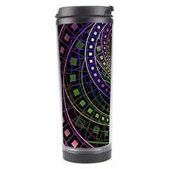 Oz The Great With Technicolor Fractal Rainbow Travel Tumbler by jayaprime