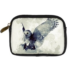 Cute Owl In Watercolor Digital Camera Cases by FantasyWorld7