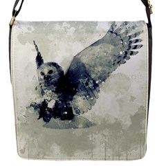 Cute Owl In Watercolor Flap Messenger Bag (s) by FantasyWorld7