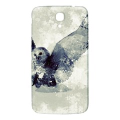 Cute Owl In Watercolor Samsung Galaxy Mega I9200 Hardshell Back Case by FantasyWorld7