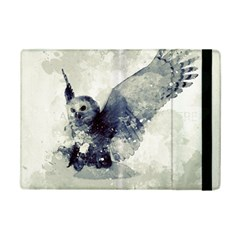 Cute Owl In Watercolor Ipad Mini 2 Flip Cases by FantasyWorld7