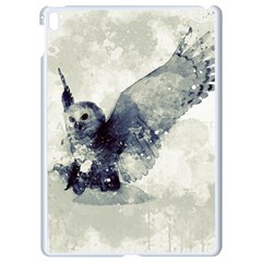 Cute Owl In Watercolor Apple Ipad Pro 9 7   White Seamless Case by FantasyWorld7