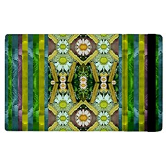 Bread Sticks And Fantasy Flowers In A Rainbow Apple Ipad 3/4 Flip Case by pepitasart