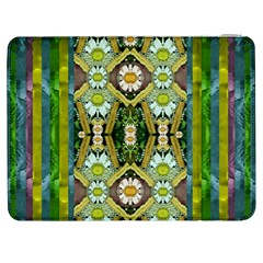 Bread Sticks And Fantasy Flowers In A Rainbow Samsung Galaxy Tab 7  P1000 Flip Case by pepitasart
