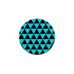 Triangle3 Black Marble & Turquoise Colored Pencil Golf Ball Marker (4 Pack) by trendistuff