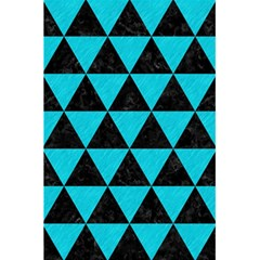 Triangle3 Black Marble & Turquoise Colored Pencil 5 5  X 8 5  Notebooks by trendistuff
