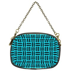 Woven1 Black Marble & Turquoise Colored Pencil Chain Purses (one Side)  by trendistuff