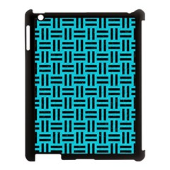 Woven1 Black Marble & Turquoise Colored Pencil Apple Ipad 3/4 Case (black) by trendistuff