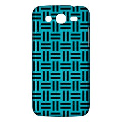 Woven1 Black Marble & Turquoise Colored Pencil Samsung Galaxy Mega 5 8 I9152 Hardshell Case  by trendistuff