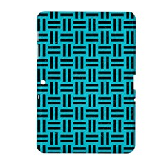 Woven1 Black Marble & Turquoise Colored Pencil Samsung Galaxy Tab 2 (10 1 ) P5100 Hardshell Case  by trendistuff