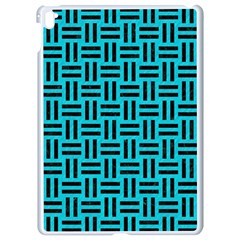 Woven1 Black Marble & Turquoise Colored Pencil Apple Ipad Pro 9 7   White Seamless Case by trendistuff
