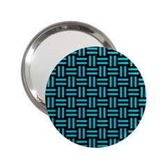 Woven1 Black Marble & Turquoise Colored Pencil (r) 2 25  Handbag Mirrors by trendistuff
