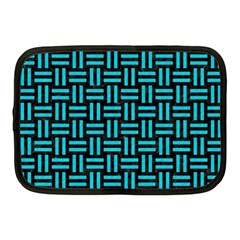 Woven1 Black Marble & Turquoise Colored Pencil (r) Netbook Case (medium)  by trendistuff