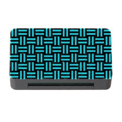 Woven1 Black Marble & Turquoise Colored Pencil (r) Memory Card Reader With Cf by trendistuff