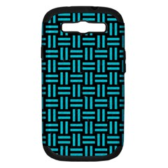 Woven1 Black Marble & Turquoise Colored Pencil (r) Samsung Galaxy S Iii Hardshell Case (pc+silicone) by trendistuff