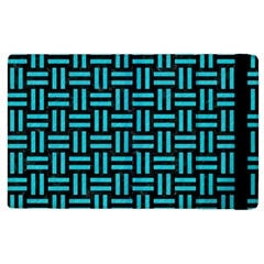 Woven1 Black Marble & Turquoise Colored Pencil (r) Apple Ipad 3/4 Flip Case by trendistuff