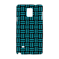 Woven1 Black Marble & Turquoise Colored Pencil (r) Samsung Galaxy Note 4 Hardshell Case by trendistuff
