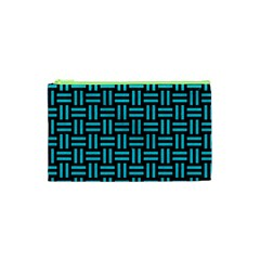 Woven1 Black Marble & Turquoise Colored Pencil (r) Cosmetic Bag (xs) by trendistuff