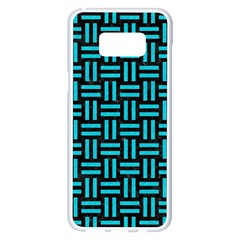 Woven1 Black Marble & Turquoise Colored Pencil (r) Samsung Galaxy S8 Plus White Seamless Case by trendistuff